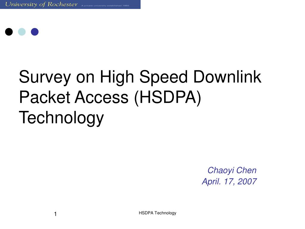 survey on high speed downlink packet access hsdpa technology l.