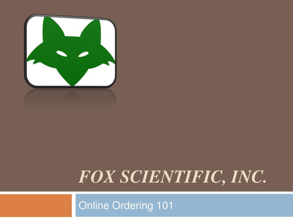 fox scientific inc l.