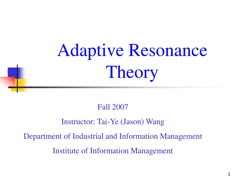 adaptive resonance theory l.