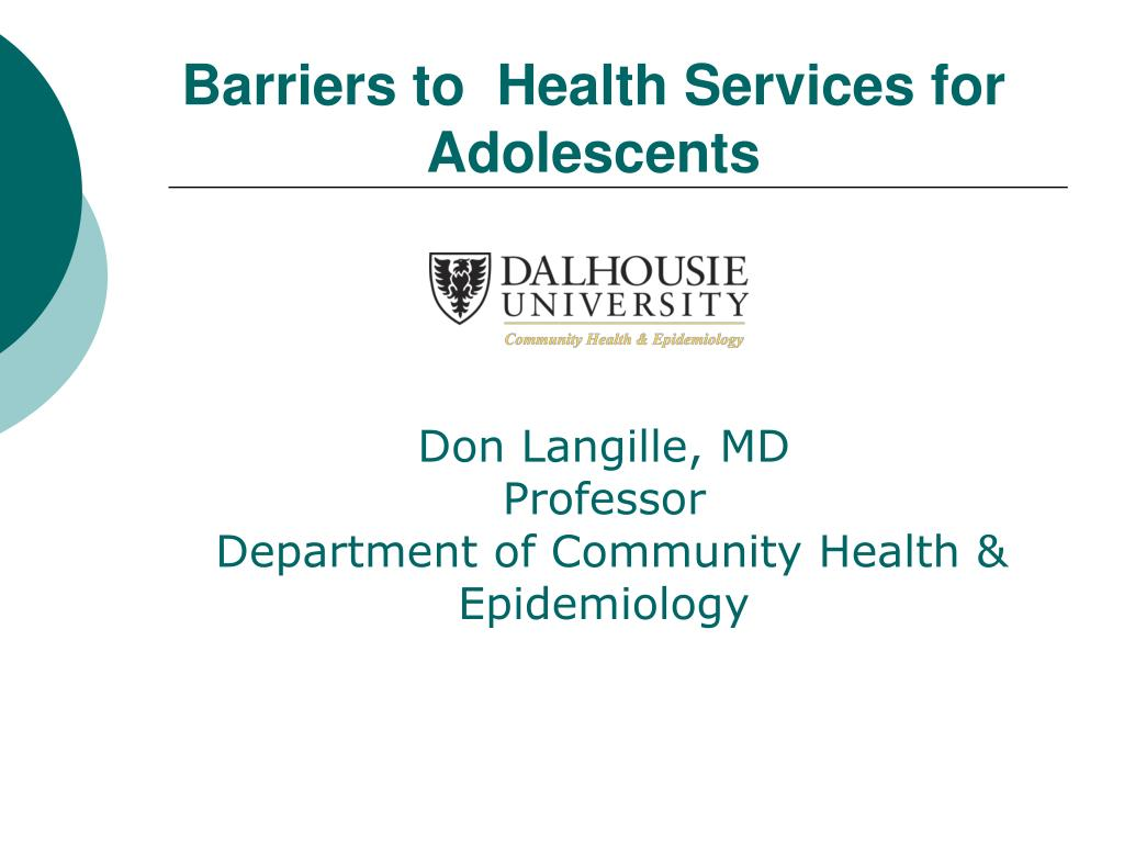 barriers to health services for adolescents l.