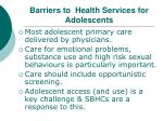 barriers to health services for adolescents2