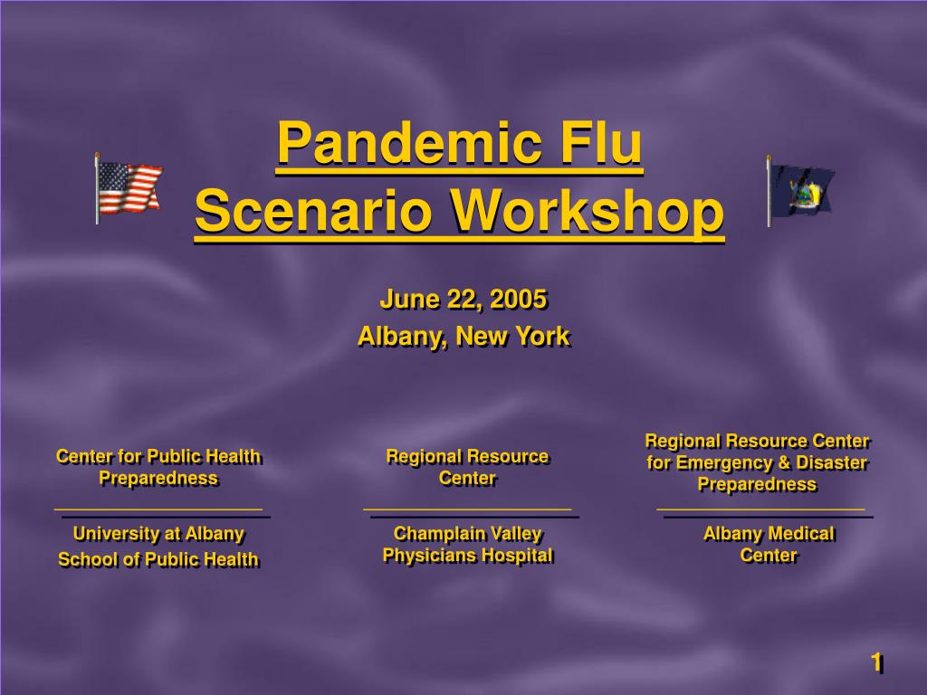 pandemic flu scenario workshop l.