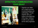 effectively communicating your ideas
