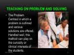 teaching on problem and solving