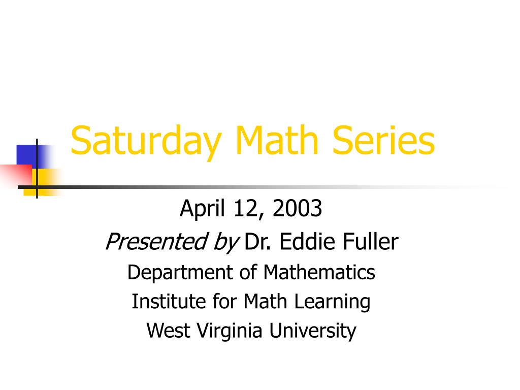 saturday math series l.