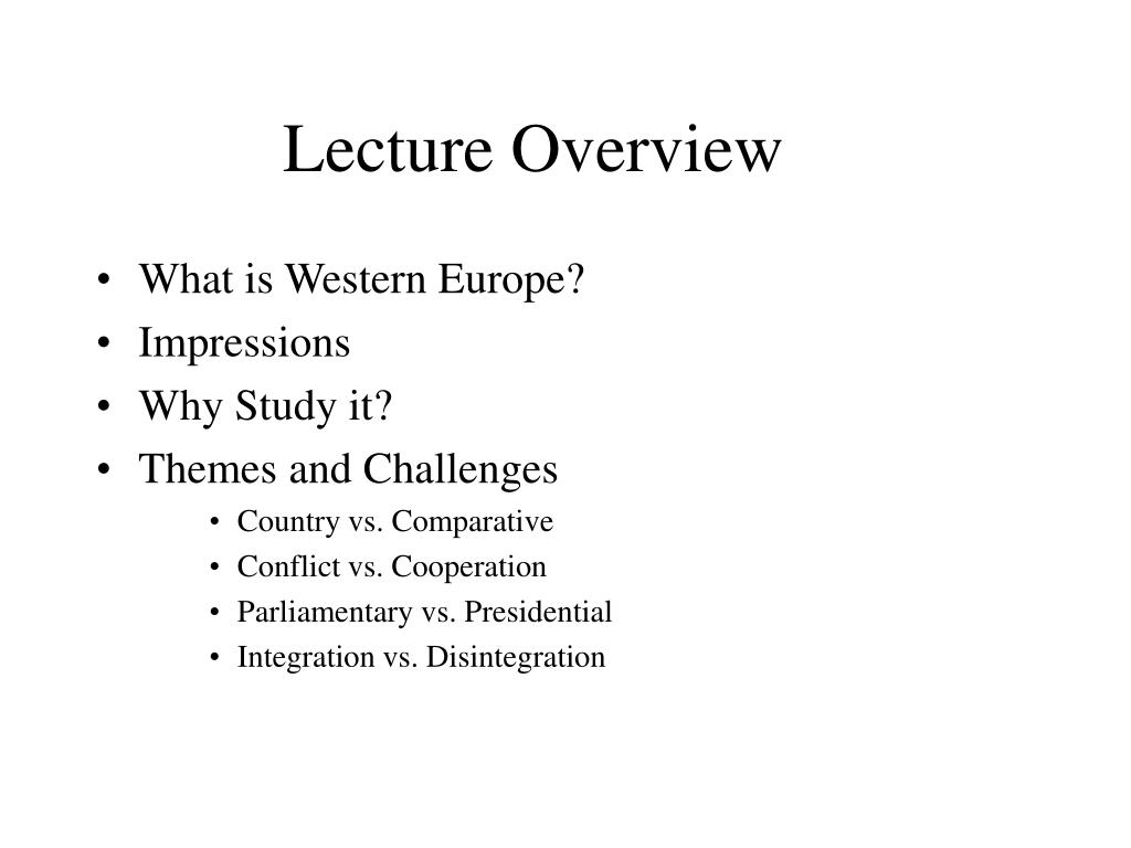 lecture overview l.