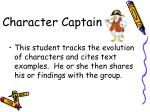 character captain