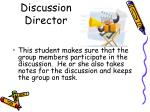 discussion director