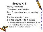 grades k 3