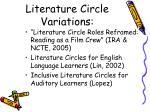 literature circle variations