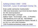 aufstieg bl te 1900 1939 automobil luxus lastwagen coswig i sa