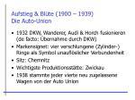 aufstieg bl te 1900 1939 die auto union