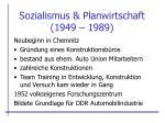 sozialismus planwirtschaft 1949 1989