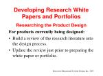 developing research white papers and portfolios21