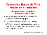 developing research white papers and portfolios26