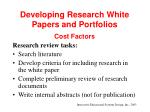 developing research white papers and portfolios33
