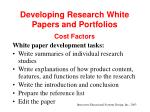 developing research white papers and portfolios35