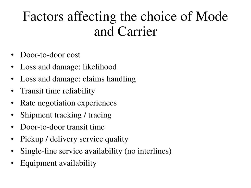 factor affecting on service quality
