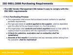 iso 9001 2008 purchasing requirements