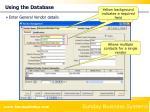 using the database