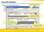 using the database14
