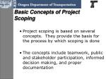 basic concepts of project scoping