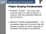 project scoping fundamentals