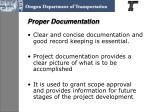 proper documentation