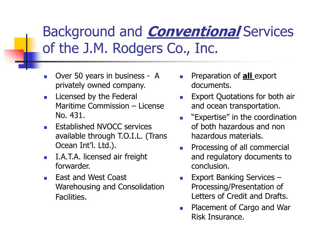 Over 50 years in business -  A privately owned company.