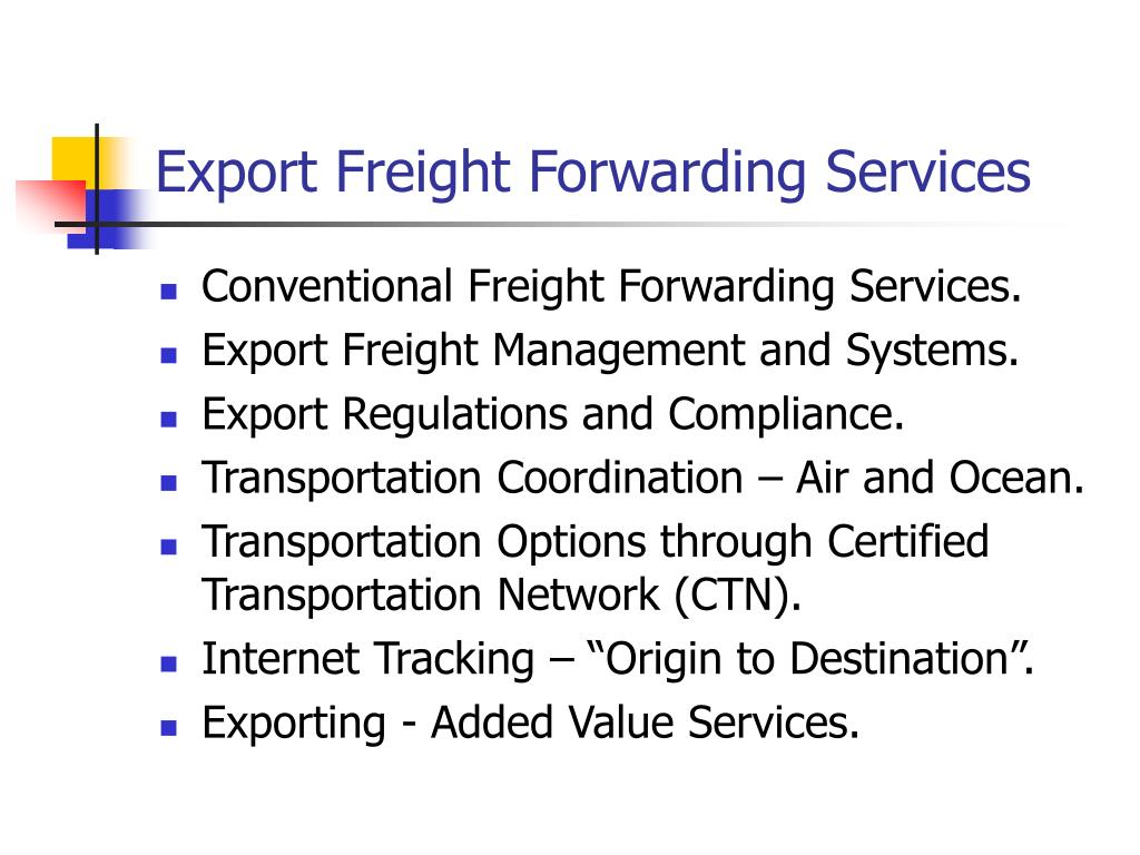 export freight forwarding services l.