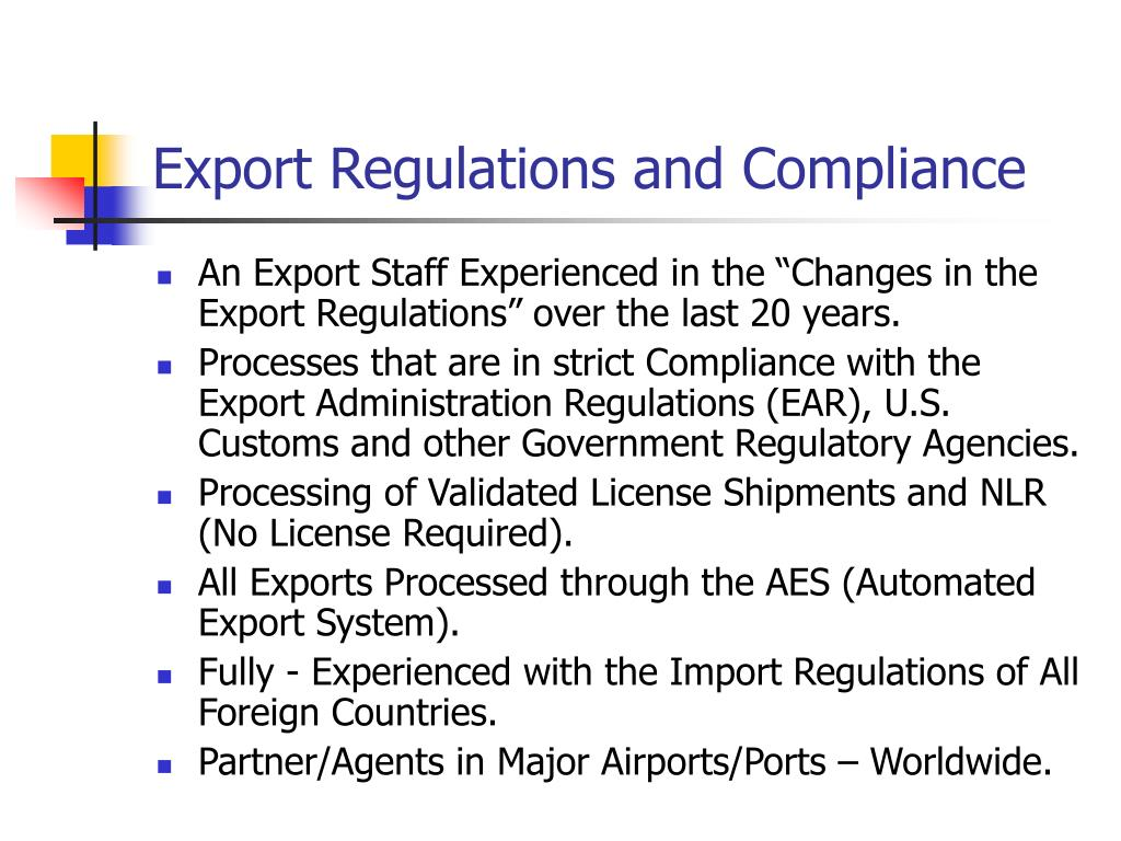 Export Regulations and Compliance