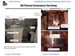 em thermal conductance test setup