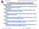 x lat em heat pipe characterization tests results