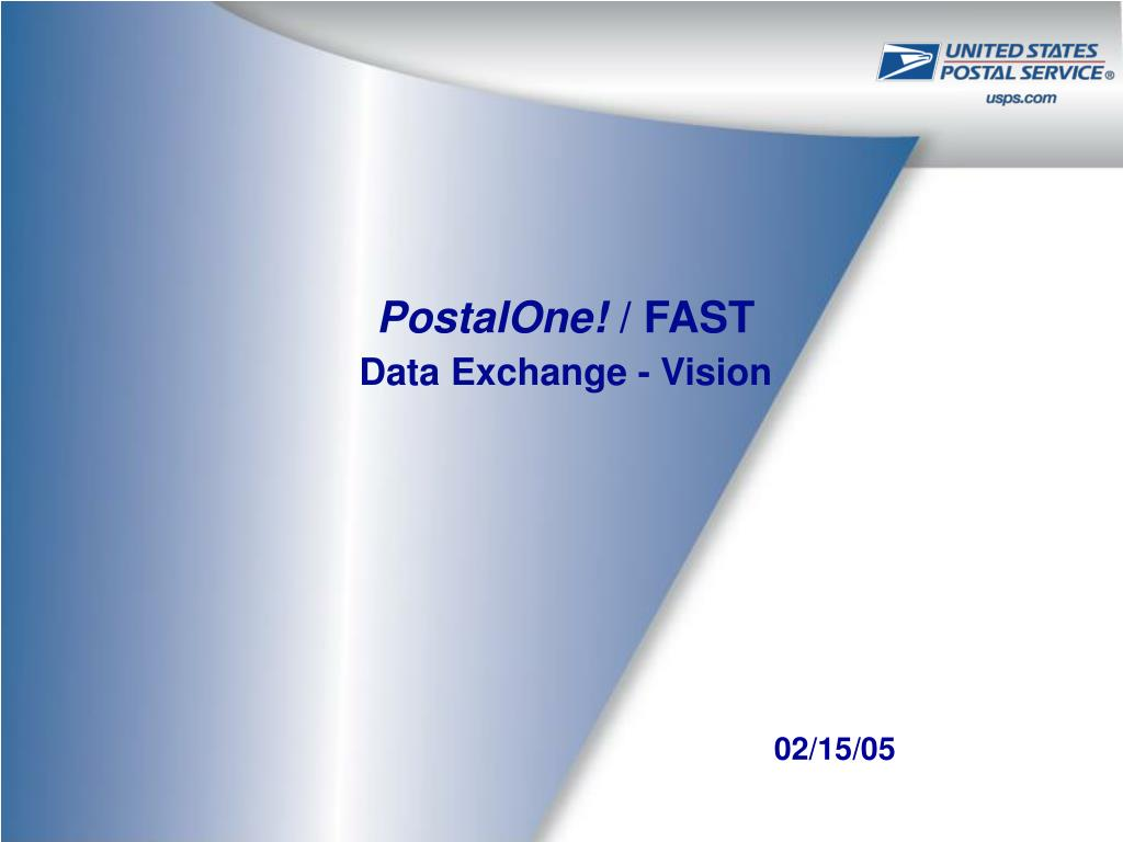 postalone fast data exchange vision l.