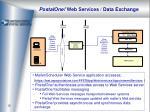 postalone web services data exchange