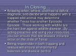 in closing