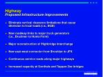 highway proposed infrastructure improvements