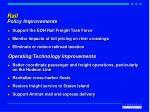 rail policy improvements
