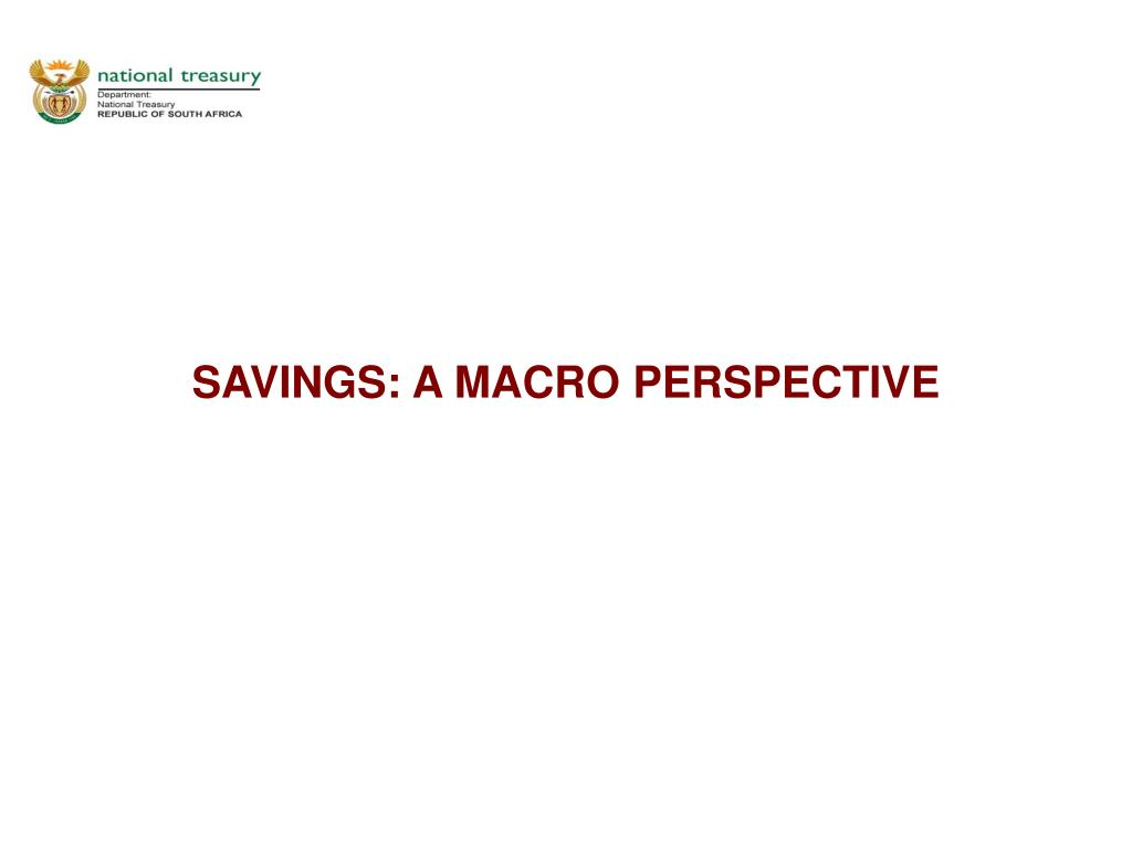 savings a macro perspective l.