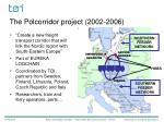 the polcorridor project 2002 2006