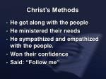 christ s methods