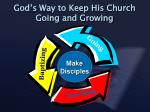 god s way to keep his church going and growing