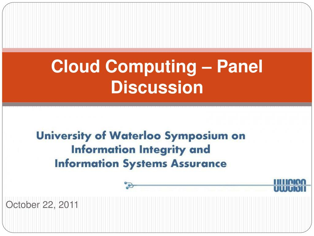 cloud computing panel discussion l.