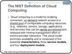 the nist definition of cloud computing