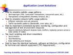 application level solutions