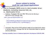 issues related to testing multi tier web based applications24