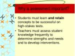 why is assessment important8