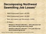 decomposing northwest sawmilling job losses