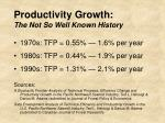 productivity growth the not so well known history