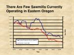 there are few sawmills currently operating in eastern oregon